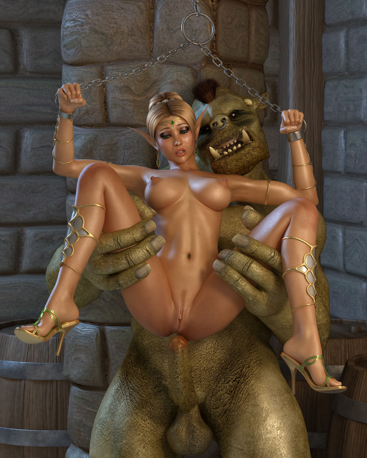 3d cartoon monster porn